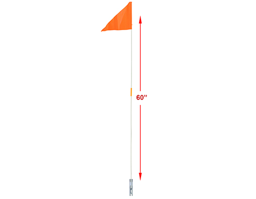 Safety Flags 2pc 60 Orange.