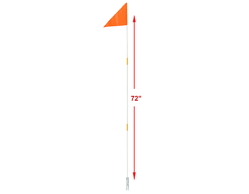 Safety Flags 3pc 72 Orange.