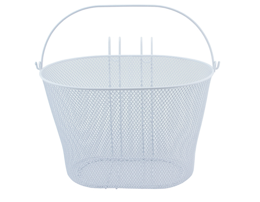 Oval Steel Wire Basket 21-H white.