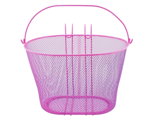 Oval Steel Wire Basket 21-H Pink.
