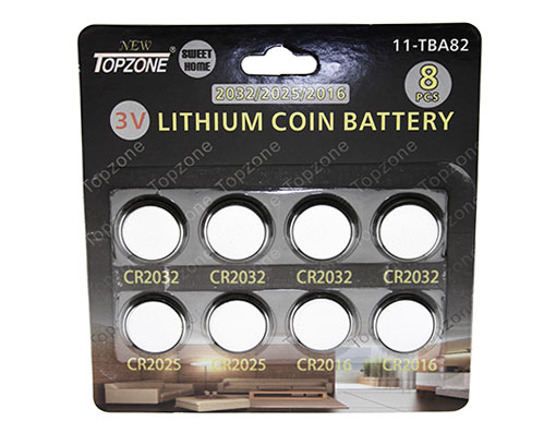 3v Lithium Coin Battery CR-2032/CR-2025/CR-2016 8/pk