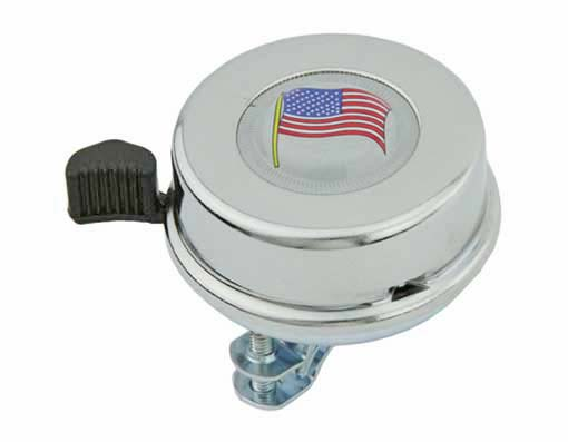 American Flag  bike Bell Chrome