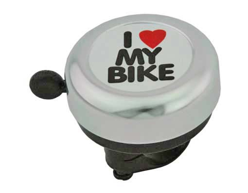 I Love My  bike Bell Silver