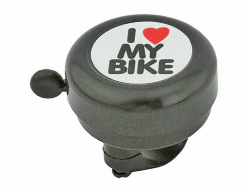 I Love My  bike Bell Black