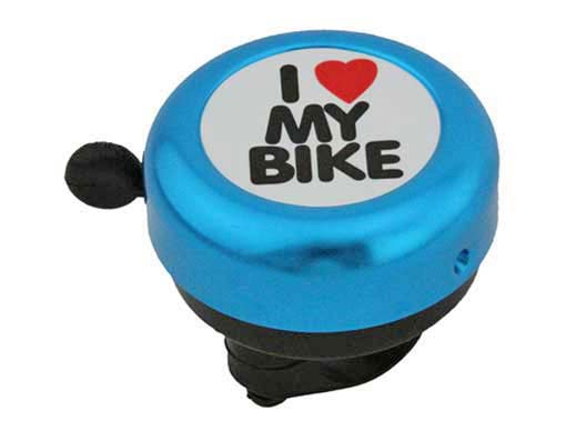 I Love My bike Bell Blue