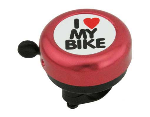 I Love My  bike Bell Red