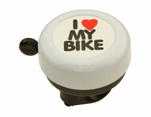 I Love My  bike Bell White