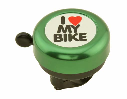 I Love My  bike Bell Green