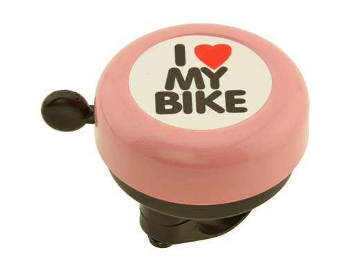 I Love My  bike Bell pink