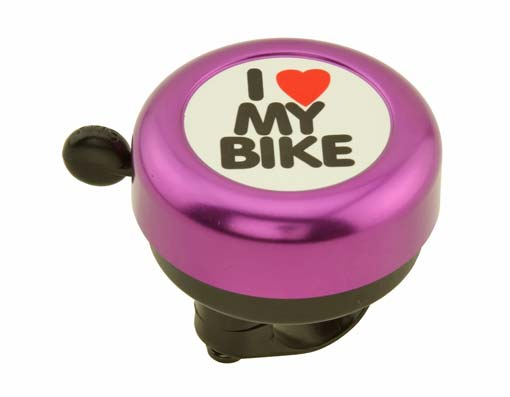 I Love My  bike Bell purple