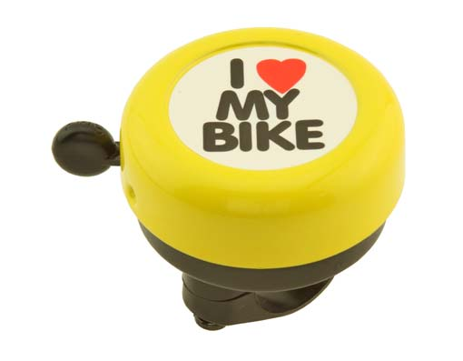 I Love My  bike Bell Yellow