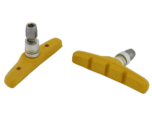 70mm Brake Shoes W/Nut Yellow.