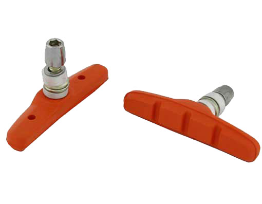 70mm Brake Shoes W/Nut Orange.