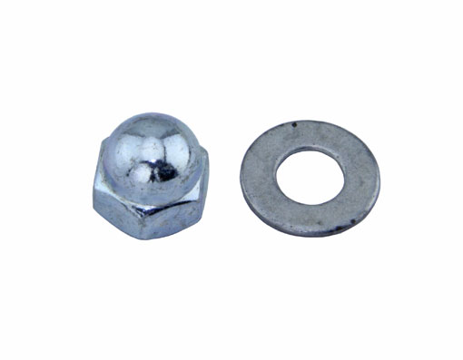 Brake Shoes Nut & Washer Chrome.