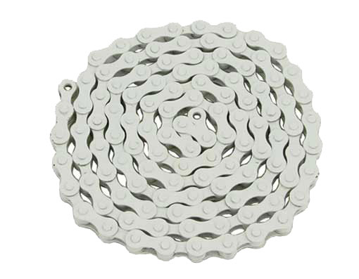 YBN bicycle Chain 1/2x1/8x112 White.