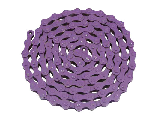 YBN bicycle Chain 1/2x1/8x112 Purple.