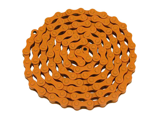 YBN bicycle Chain 1/2x1/8x112 Orange.