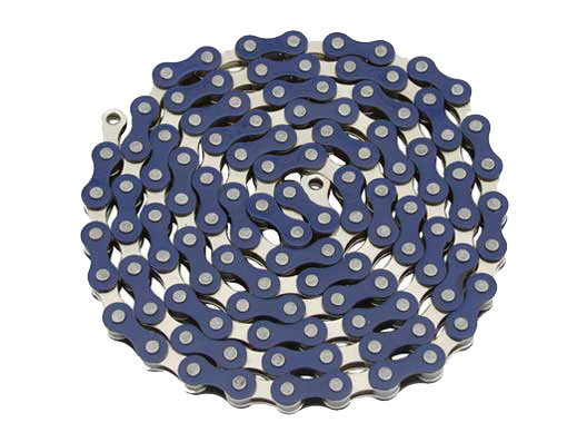 YBN bicycle Chain 1/2x1/8x112 Blue/Chrome.