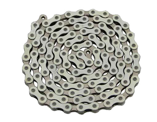 YBN bicycle Chain 1/2x1/8x112 White/Chrome.