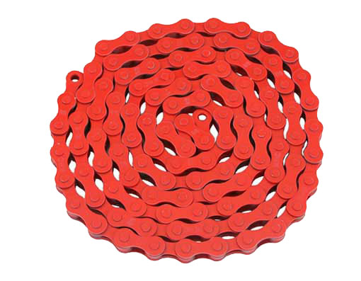 KMC bicycle Chain 1/2x1/8x112 Red.