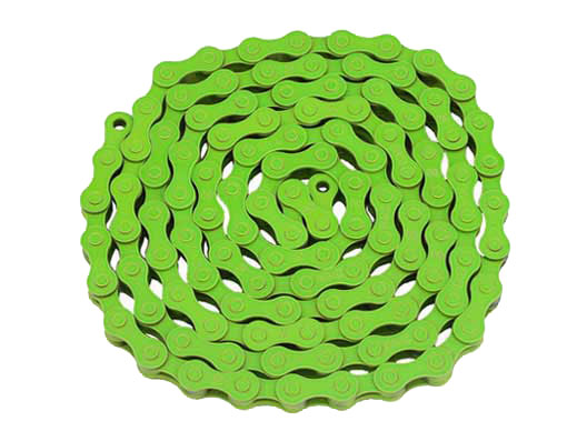 KMC bicycle Chain 1/2x1/8x112 Green.