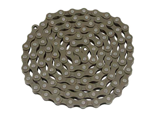 KMC bicycle Chain 1/2x1/8x112 Brown.