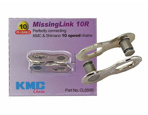 Bike KMC Chain MissingLink Con 10/Speed 5.88mm Pin Silver. 123954