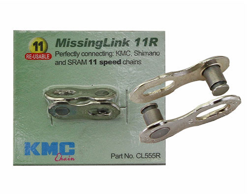 Bike KMC Chain MissingLink Con 11/Speed 5.5mm Pin Silver. 123955