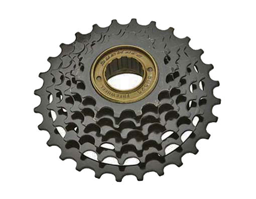 6 Speed Multiple Freewheels Friction Black Sun