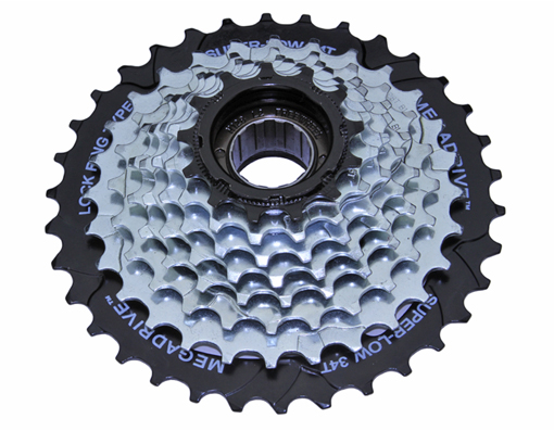 8 Speed  Multiple Freewheels Chrome Sun Race.