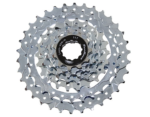 Bike 7 Speed Cassette 11/34t Index CSM40 Zinc Sun Race. 125610