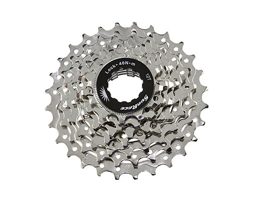 Bike 7 Speed Cassette 12/28t Index CSM63 Nickel Sun Race. 125614