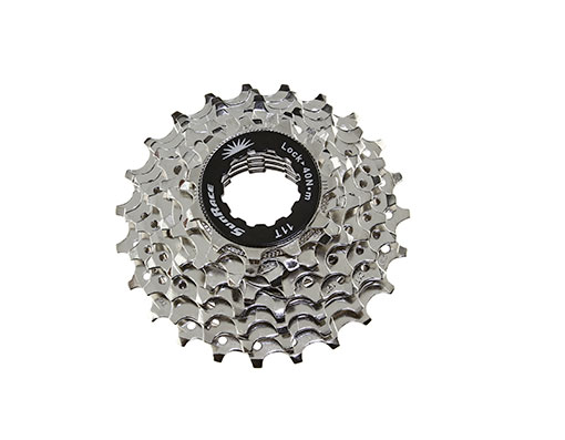 Bike 8 Speed Cassette 11/23t Index CSR-86 Nickel Sun Race. 125616
