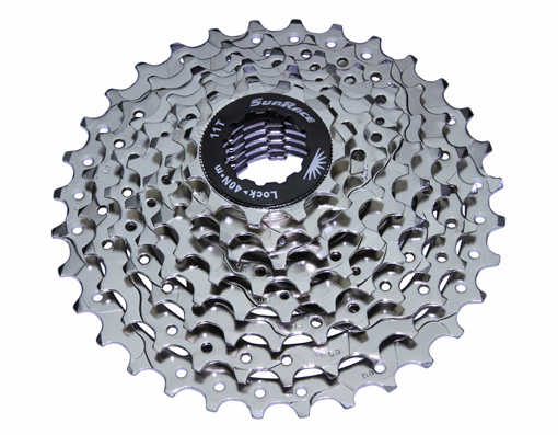 8 Speed Cassette Index CSM-53 Nickel Sun Race.