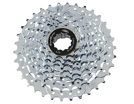 Bike 8 Speed Cassette 11/34t Index CSM-55 Zinc Sun Race. 125625