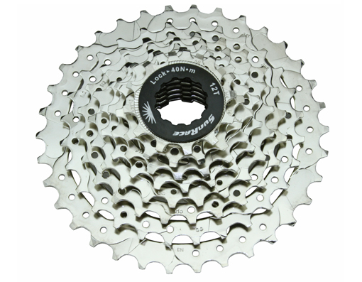 8 Speed Cassette 12/34t Index SCM-66 Nickel Sun Race.