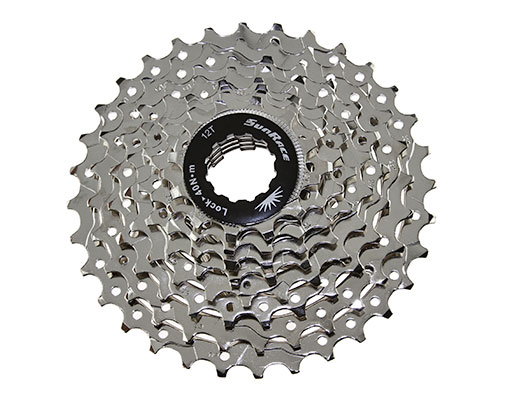 Bike 8 Speed Cassette 12/32t Index CSB-55 Nickel Sun Race. 125628