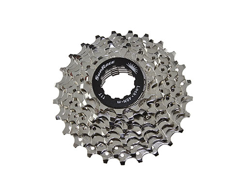 Bike 9 Speed Cassette 11/25t Index CSR-91 Nickel Sun Race. 125700