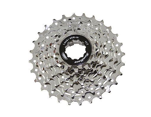 Bike 9 Speed Cassette 11/28t Index CSR-91 Nickel Sun Race. 125708