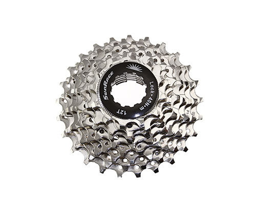 Bike 9 Speed Cassette 12/25t Index CSR--91 Nickel Sun Race. 125716