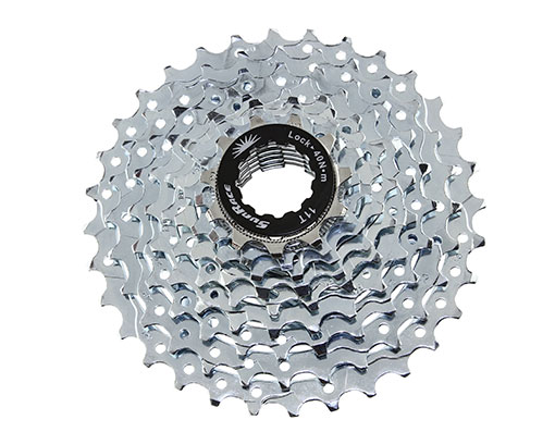 Bike 9 Speed Cassette 11/32t Index CSM-90 Zinc Sun Race. 125724