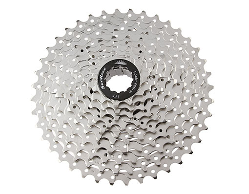 Bike 10 Speed Cassette 11/40t Index CSMS3 Silver Sun Race. 125802