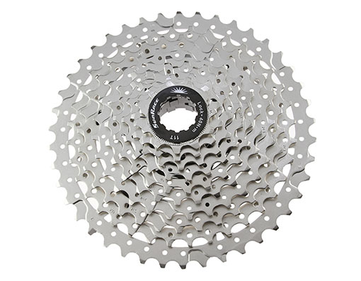 Bike 10 Speed Cassette 11/42t Index CSMS3 Silver Sun Race. 125814