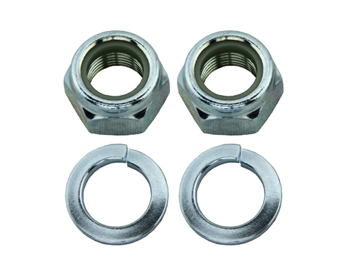 Trike Axls Nut and Washer set Chrome.