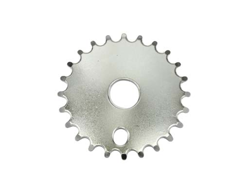 Chainring bike Steel 312 24t Chrome.