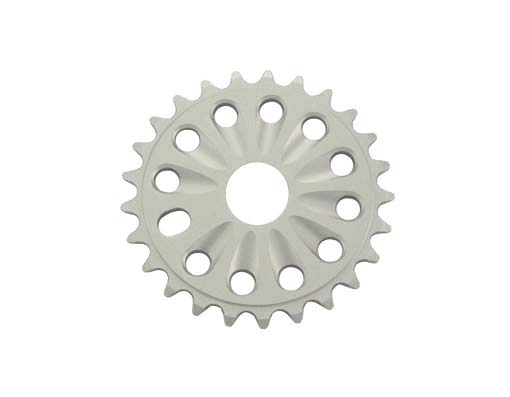 Chainring Alloy -T6 25t 1/2 X 1/8 Silver.