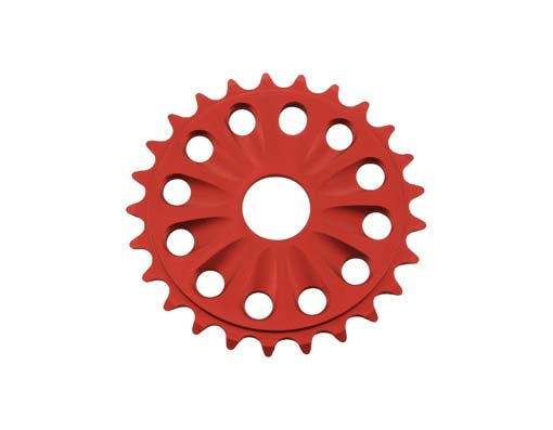 Chainring Alloy -T6 25t 1/2 X 1/8 Red.