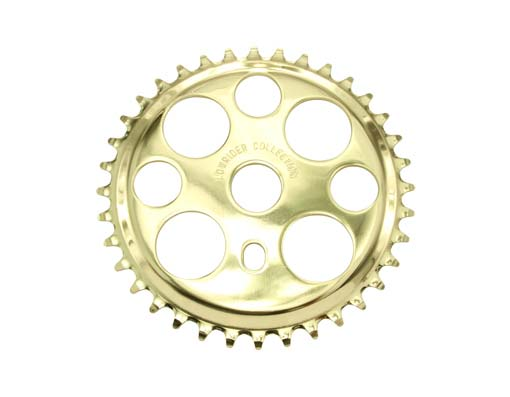 Lowrider Lucky 7 Sprocket 36t 1/2 X 1/8 Gold.