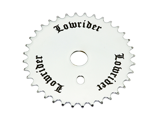 bike Lowrider 3D logo Steel Chainring 1/2 X 1/8 36t Black/Chrome