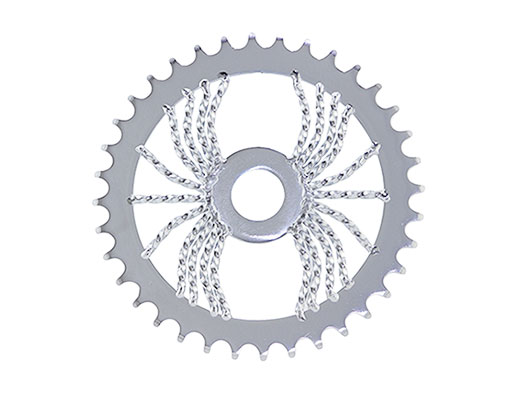 Bike Lowrider Spider Twisted Steel Sprocket 1/2 X 1/8 36t Chrome. 137367
